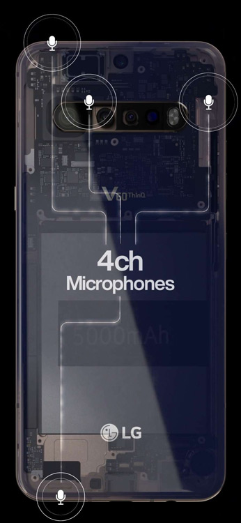 LG V60 ThinQ microfoon