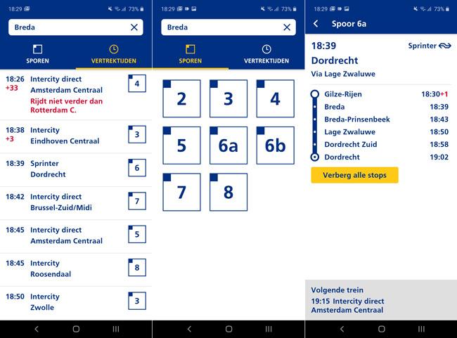 NS Perronwijzer app