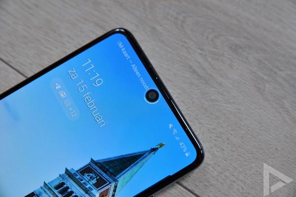 Samsung Galaxy A51 gezichtsherkenning
