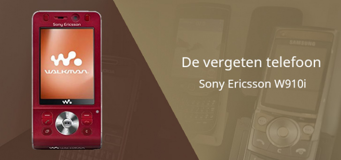 De vergeten telefoon: Sony Ericsson W910i