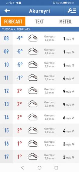 Veður weer-app ijsland
