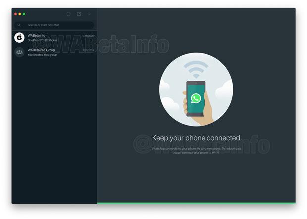 WhatsApp Desktop Web Donker Thema