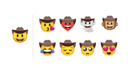 Gboard emoji cowboy