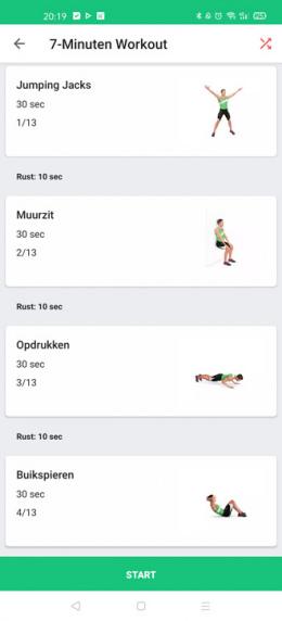 7 minuten workout app