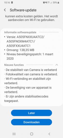 Galaxy A50 maart update