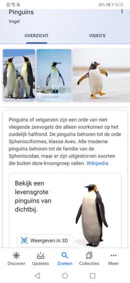 Google 3D Dieren