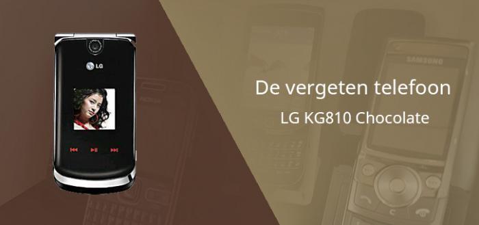 De vergeten telefoon: LG KG810 Chocolate