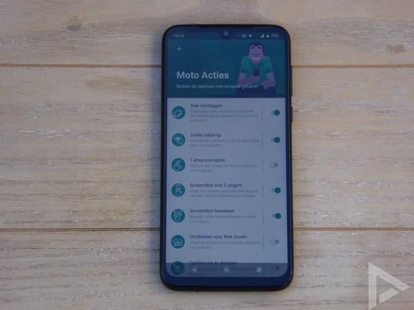 Moto G8 Plus Moto Acties