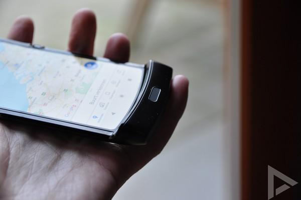 Motorola Razr vingerafdrukscanner