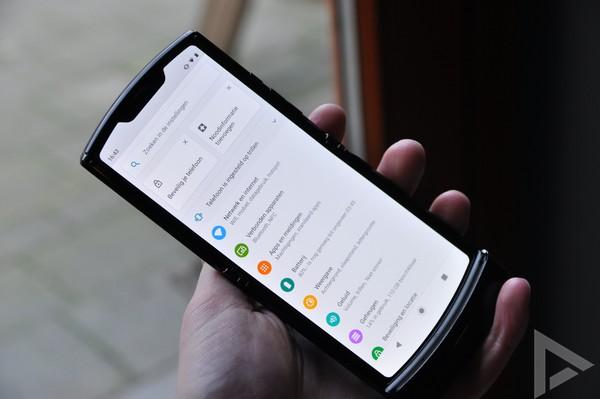 Motorola Razr settings