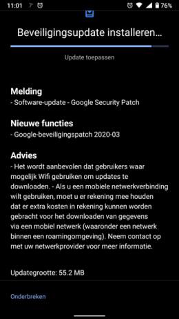 Nokia 6.1 maart patch