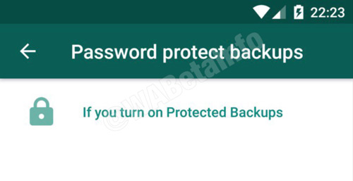 WhatsApp back-up encryptie