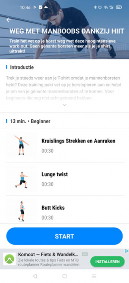 Workouts fitness app