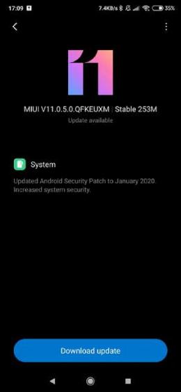 Xiaomi Mi 9T Pro januari update