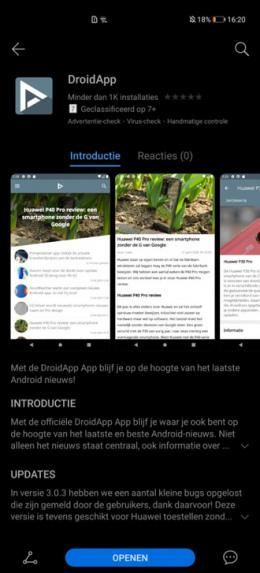 DroidApp App Huawei AppGallery
