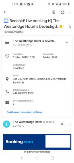 Gmail overzichtskaart