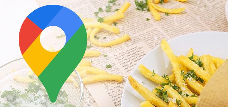 Google Maps toont aangepaste navigatiebalk voor bezorgen en afhalen