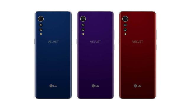 LG Velvet achter