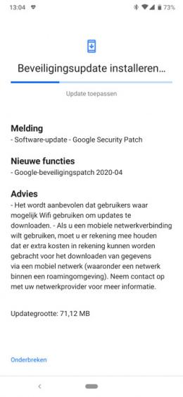 Nokia 6.2 beveiligingsupdate april 2020