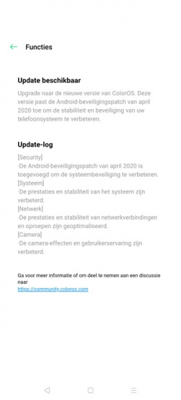 Oppo Find X2 Pro april update