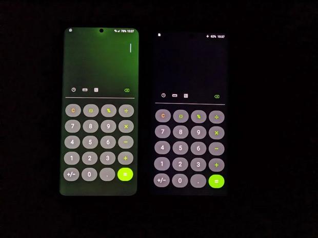 Samsung Galaxy S20 Ultra groene tint display