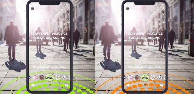 Snapchat Lenses Social Distancing