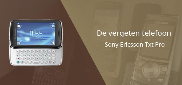 De vergeten telefoon: Sony Ericsson Txt Pro