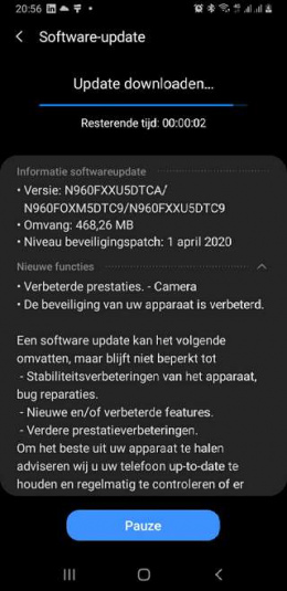 Galaxy note 9 april patch