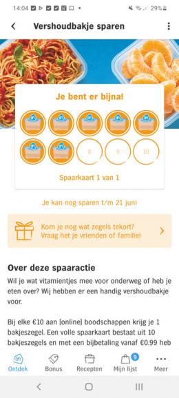 AH Zegels sparen app