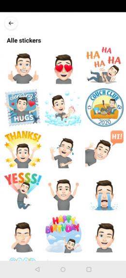 Facebook Avatars stickers
