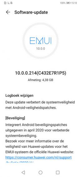 Huawei Mate 20 pro EMUI 10.0.0.214
