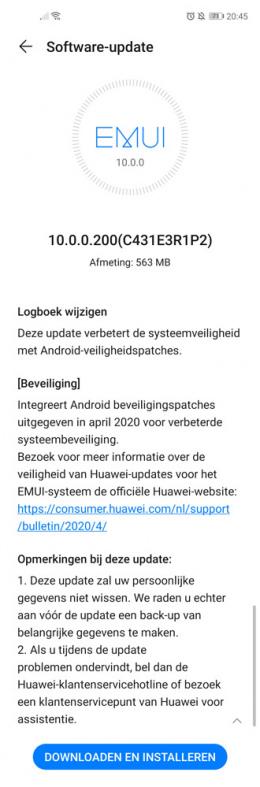 Huawei Nova 5T April 2020-patch