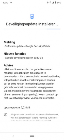 Nokia 6.2 beveiligingsupdate mei 2020