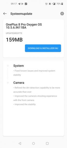 OnePlus 8 Pro OxygenOS 10.5.6