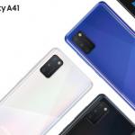 Samsung Galaxy A41 header