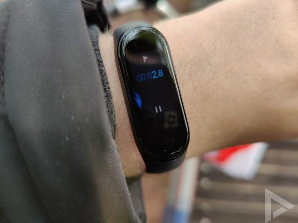 Xiaomi Mi Band 4 timer stopwatch