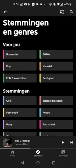YouTube Music genres