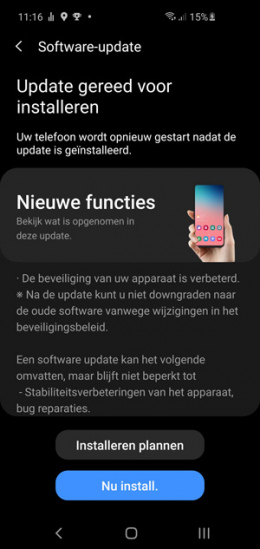 Galaxy S10 juni-patch