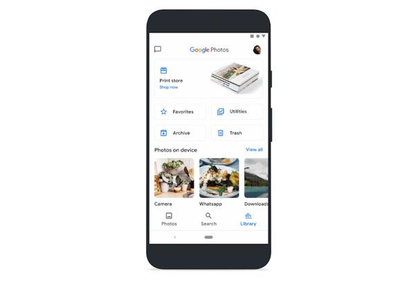 Google Foto's bibliotheek