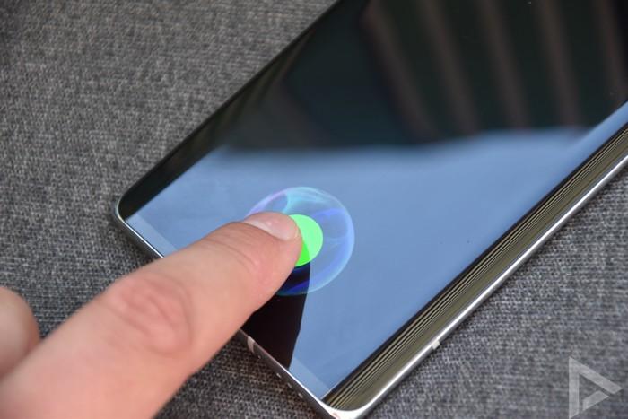 LG Velvet vingerafdrukscanner