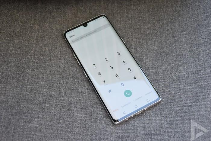 LG Velvet dialer