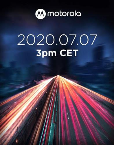 Motorola aankondiging 7 juli