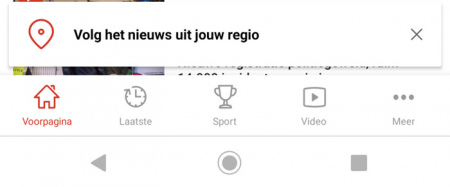 NOS app regionale omroepen