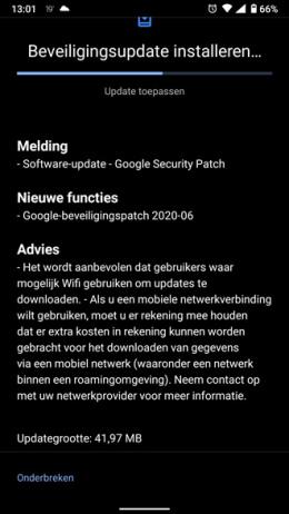 Nokia 6.1 beveiligingsupdate juni 2020