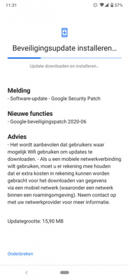 Nokia 6.2 update juni 2020