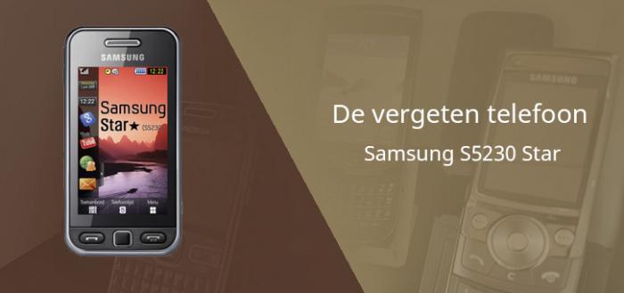 De vergeten telefoon: Samsung S5230 Star