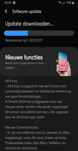 Samsung galaxy Note 9 One UI 2.1