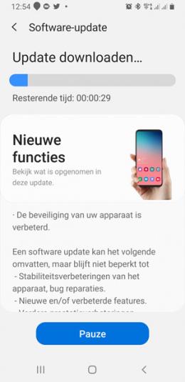 Samsung Galaxy Note 9 juli update