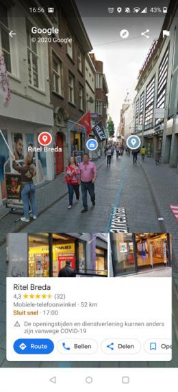 Google Maps Street View markeringen