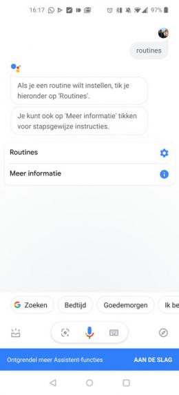Google routines commando